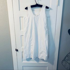 Vintage crisp white sleeveless pajama gown